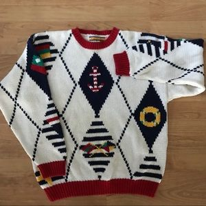 Sweaters - Nautical Decorative Knitted Sweater
